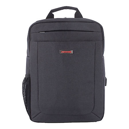 """Swiss Mobility Cadence Slim Business Backpack With 15.6"""" Laptop Pocket, Gray"""