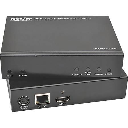 Tripp Lite HDBaseT HDMI Over Cat5e Cat6 Cat6a Extender Kit with Power / IR Control 4K x 2K @ 24/30Hz 100m 328ft - 1 Input Device - 1 Output Device - 328 ft Range