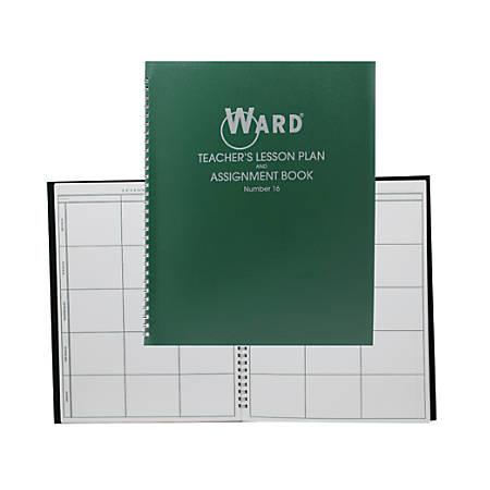 Ward 6-Period Teacher Plan Books, Green, Pack Of 4