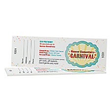 Custom Full Color Perforated Tickets EventRaffle