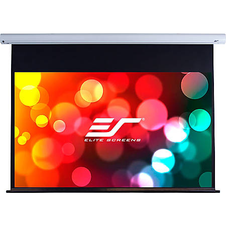 """Elite Screens? Saker - 120-inch 16:9 with 20"""" Drop, Electric Motorized Drop Down Projection Projector Screen, SK120XHW-E20"""""""