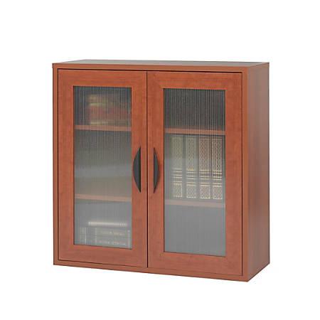 Safco Apres 2 Door Cabinet 30 H Cherry Office Depot