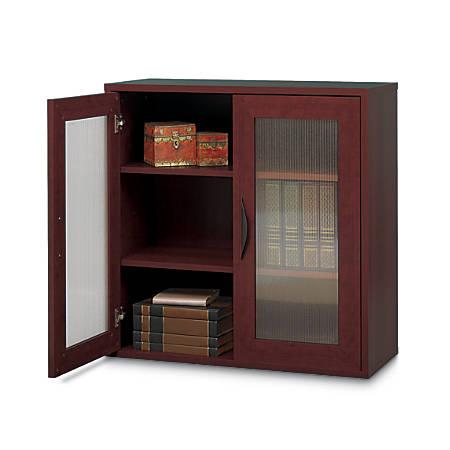 """Safco® Apres 2-Door Cabinet, 30""""H, Mahogany"""
