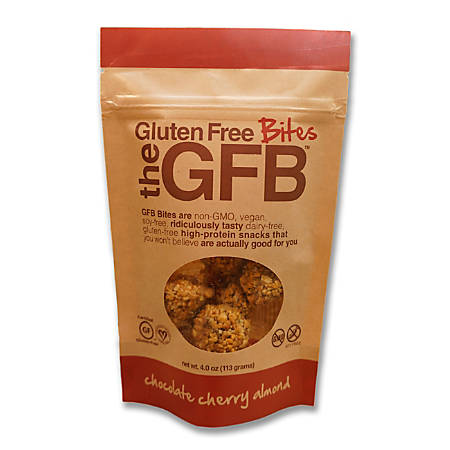 GFB™ The Gluten Free Bites, Chocolate Cherry Almond, 4 Oz, Pack Of 12