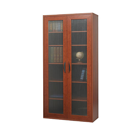 """Safco® Apres Tall Cabinet, 60""""H, Cherry"""