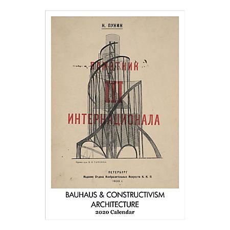 "Retrospect Bauhaus & Constructivism Architecture Monthly Wall Calendar, 19"" X 12-1/2"", January To December 2020, YC 049-20"