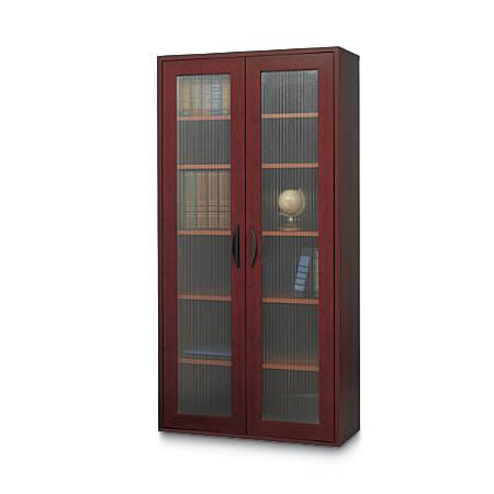 """Safco® Apres Tall Cabinet, 60""""H, Mahogany"""