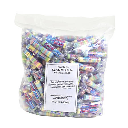 SweeTarts Candy Rolls, 3-Lb Bag