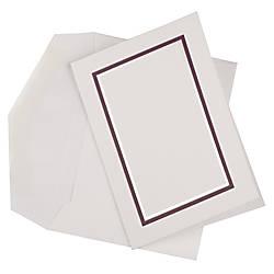 JAM Paper Small Stationery Set PurpleWhite
