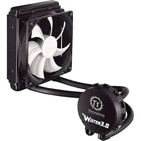 Thermaltake Water 3.0 Performer C Cooling Fan/Water Block - 120 mm - 2000 rpm81.3 CFM - 27.4 dB(A) Noise - Liquid Cooler - 4-pin PWM - Socket R LGA-2011, Socket B LGA-1366, Socket H LGA-1156, Socket H3 LGA-1150, Socket H2 LGA-1155, Socket FM2, Socket FM1