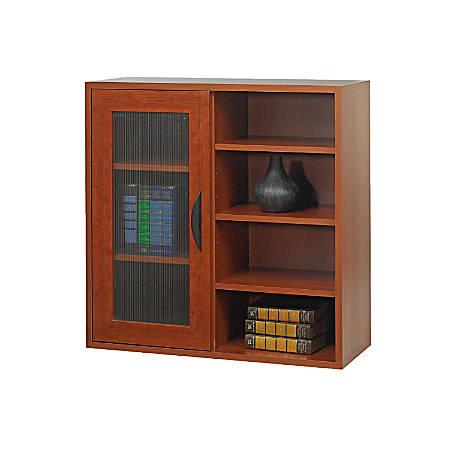 Safco® Apres Single-Door Bookcase, Cherry