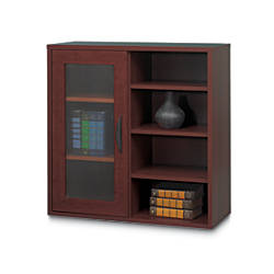 Safco Apres Single Door Bookcase Mahogany
