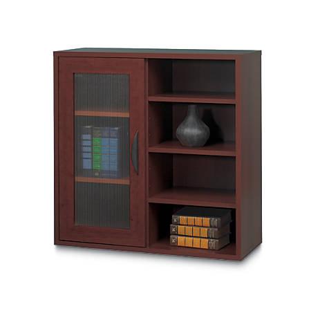 Safco® Apres Single-Door Bookcase, Mahogany