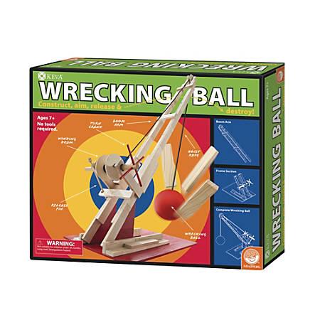 KEVA Wrecking Ball Set, Natural Pine
