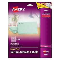 Avery Easy Peel Permanent Laser Address