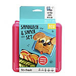 Fit & Fresh Sandwich And Snack Set, Purple