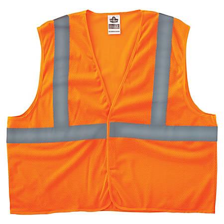 8205HL S/M Orange Type R Class 2 Super Econo Mesh Vest