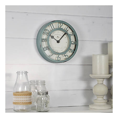 FirsTime & Co.® Raised Plastic Wall Clock, Sage Green