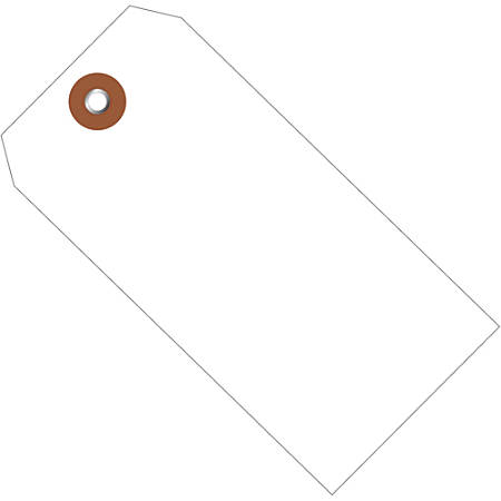 """Office Depot® Brand Plastic Shipping Tags, 6 1/4"""" x 3 1/8"""", White, Case Of 100"""