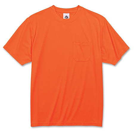 GloWear Non-certified Orange T-Shirt - Extra Extra Extra Large (XXXL) Size