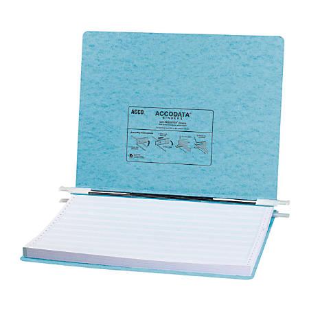 "Wilson Jones® Presstex® Pressboard Data Binder, 14 7/8"" x 8 1/2"", 50% Recycled, Light Blue"
