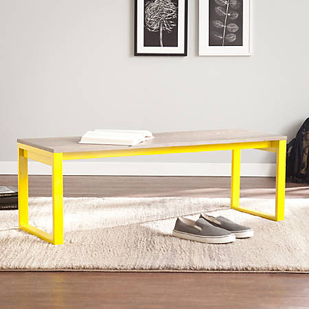 Holly & Martin Beckett Bench, Oak/Citrine