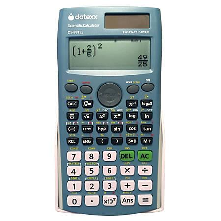 Datexx Scientific Calculators, DS-991ES-6, Pack Of 6 Calculators