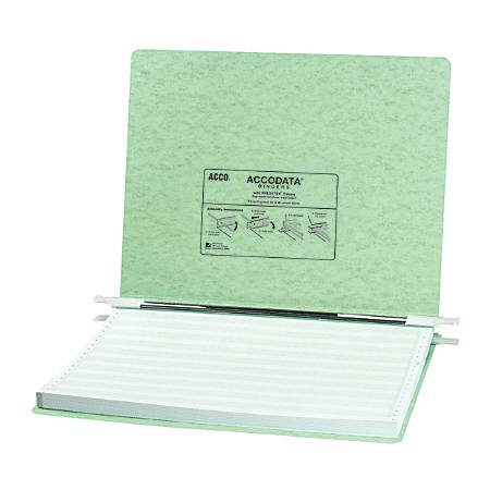 Wilson Jones® Presstex® Data Binder With Storage Hooks, 60% Recycled, Light Green