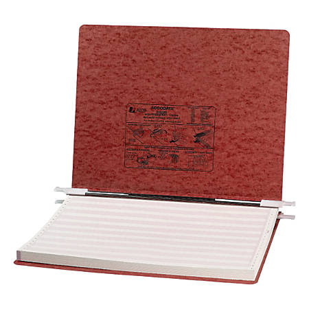 "Wilson Jones® Presstex® Pressboard Data Binder, 14 7/8"" x 11"", 60% Recycled, Red"