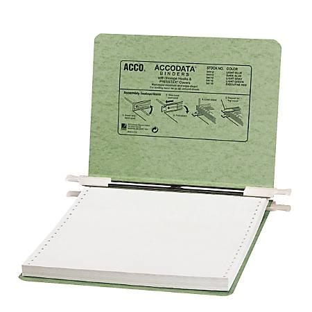 """Wilson Jones® Presstex® Data Binder With Retractable Hooks, 9 1/2"""" x 11"""", 60% Recycled, Green"""