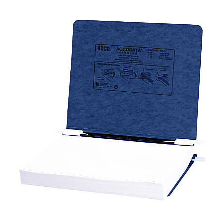 "Wilson Jones® Presstex® Data Binder With Retractable Hooks, 11"" x 8 1/2"", 60% Recycled, Dark Blue"