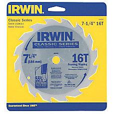 IRWIN Classic Series Circular Saw Blade