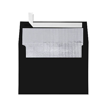 """LUX Invitation Envelopes With Peel & Press Closure, A7, 5 1/4"""" x 7 1/4"""", Black/Silver, Pack Of 1,000"""