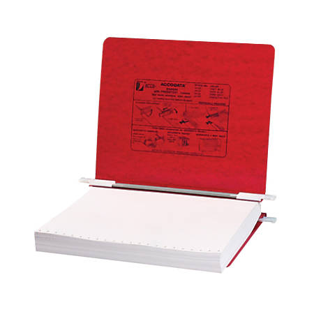 "Wilson Jones® Presstex® Data Binder With Retractable Hooks, 11"" x 8 1/2"", 60% Recycled, Red"