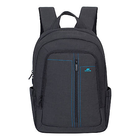 """Rivacase 7560 Canvas Backpack With 15"""" Laptop Pocket, Black"""