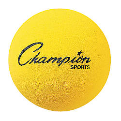 Champion Sports 4 Foam Balls Yellow