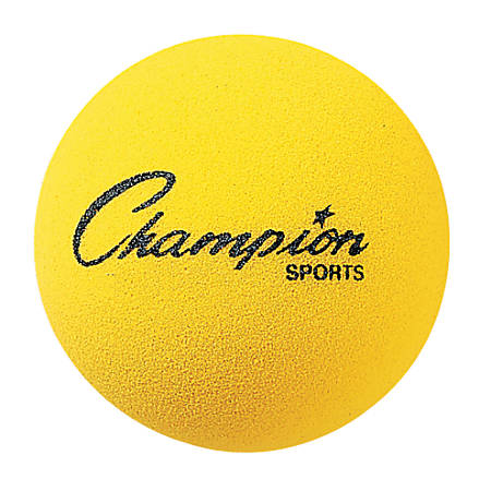 "Champion Sports 4"" Foam Balls, Yellow, Pack Of 18"