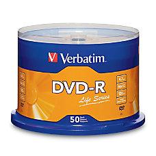 Verbatim Life Series DVD R Disc