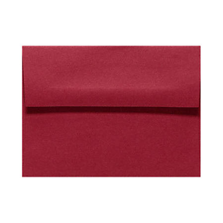 """LUX Invitation Envelopes With Peel & Press Closure, A1, 3 5/8"""" x 5 1/8"""", Garnet Red, Pack Of 50"""