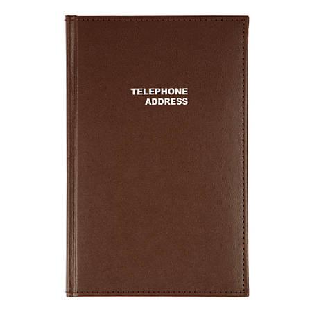 "Office Depot® Brand Vinyl Desk Telephone/Address Book, 5 1/8"" x 7 3/4"