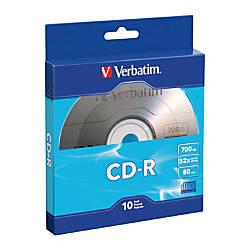 Verbatim CD R Bulk Box Pack