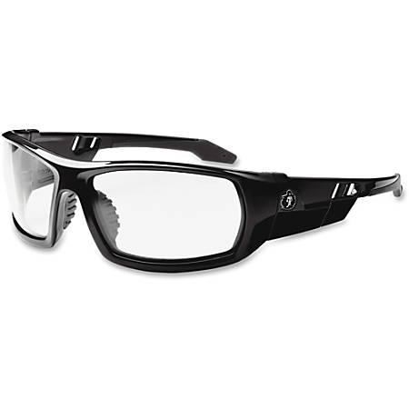 Ergodyne Skullerz Safety Glasses, Odin Fog-Off, Black Frame, Clear Lens