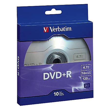 Verbatim® DVD+R Bulk Box, Pack Of 10
