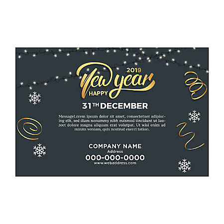 Banner Template, Horizontal, Light & Snow