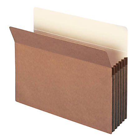 """Smead® """"Workhorse"""" Expanding File Pockets, 5 1/4"""" Expansion, 9 1/2"""" x 11 3/4"""", 30% Recycled, Redrope, Pack Of 10"""