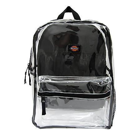 Dickies® Deluxe Clear PVC Laptop Backpack, Black