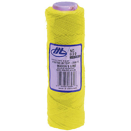 Marshalltown® Braided Nylon Mason's Line, 250', Fluorescent Yellow