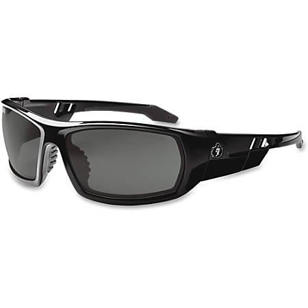Ergodyne Skullerz Fog-Off Smk Lens Safety Glasses - Durable, Flexible, Non-slip, Scratch Resistant, Anti-fog, Perspiration Resistant - Ultraviolet Protection - Polycarbonate Lens, Nylon Frame, Polycarbonate Temple - Black - 1 Each