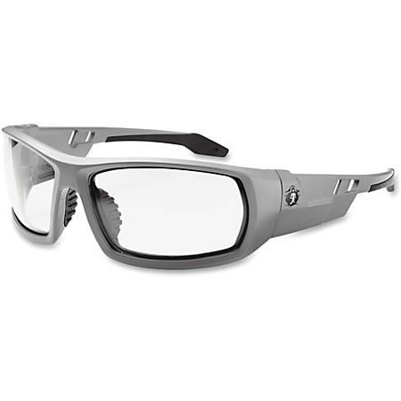 Ergodyne Clear Lens/Gray Frame Safety Glasses, Matte Gray/Clear