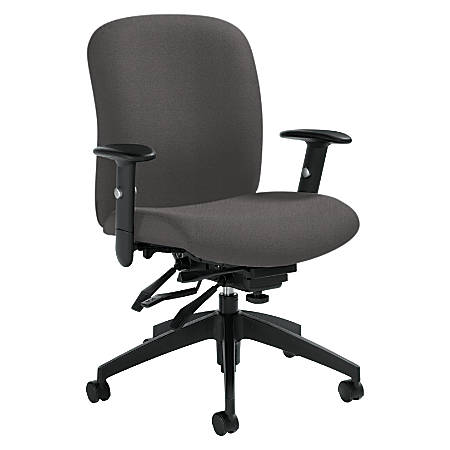 "Global® Truform High-Back Multi-Tilter Adjustable Chair, 42""H x 26""W x 25""D, Slate"